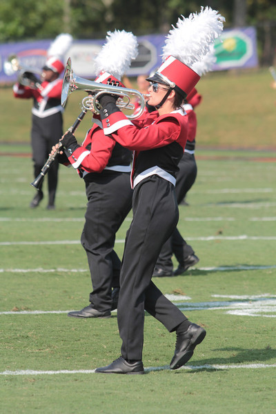Marching band performs at half time.
