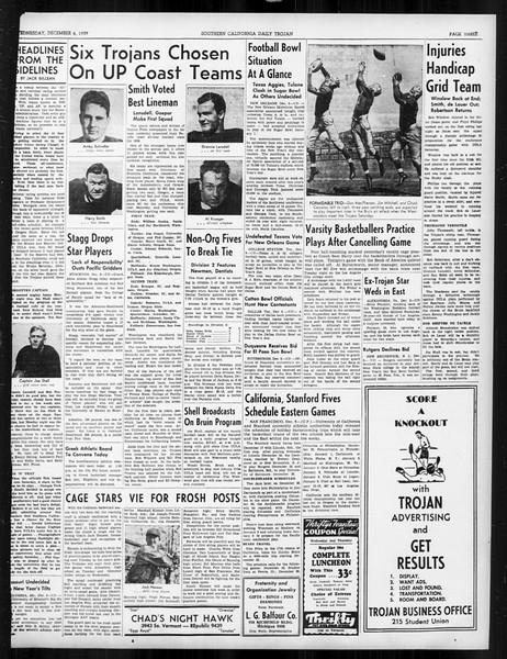 Daily Trojan, Vol. 31, No. 56, December 06, 1939