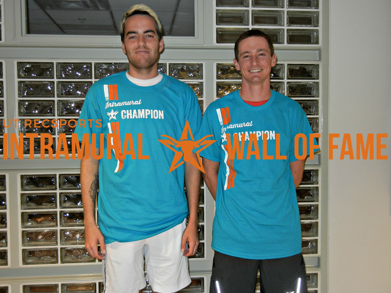 SPRING TENNIS Men's B Doubles Champion Alex Smith and Nick Meriwether