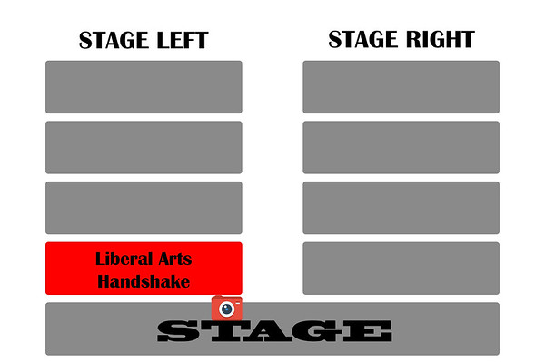 College of Liberal Arts Handshake Left