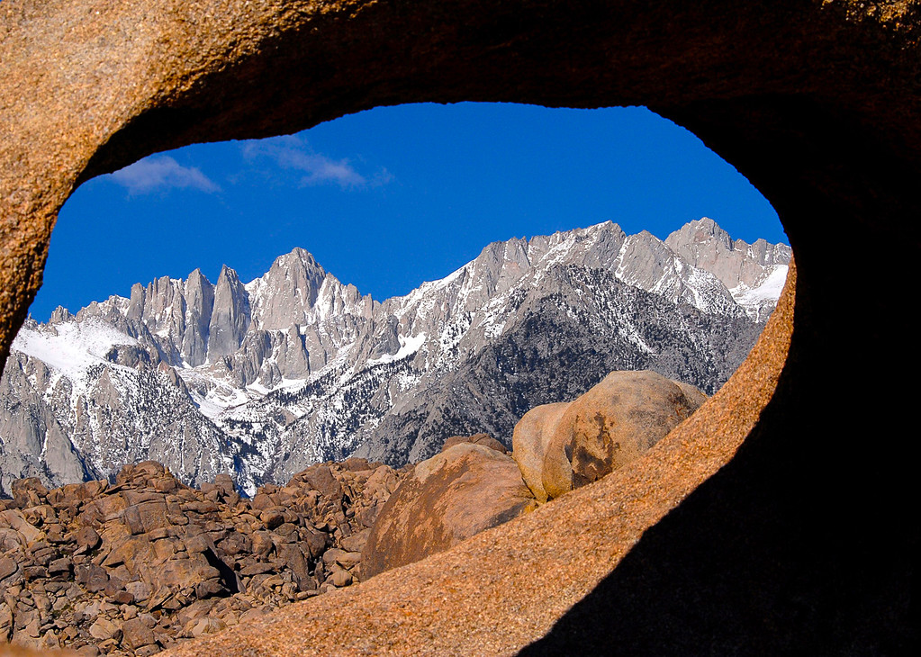 Photo of Mt. Whitney thru Arch, Alabama Hills, CA
