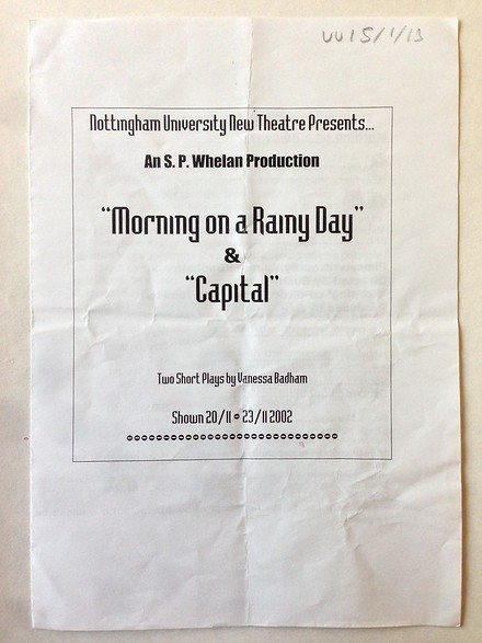 'Morning on a Rainy day' and 'Capital' poster
