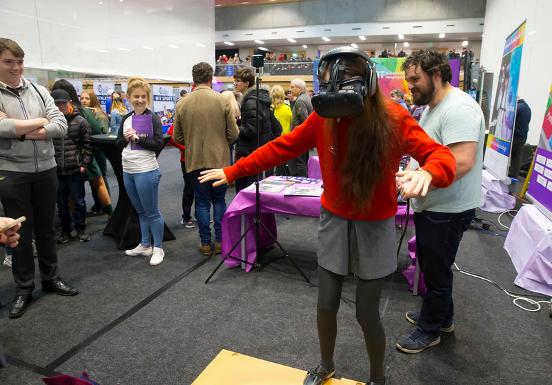 FREE TO USE IMAGE. Pictured at WIT's Autumn Open Days in the WIT Arena Picture: Patrick Browne  WIT's Autumn Open Days in the WIT Arena were on Friday, 23 November and Saturday, 24 November 2018. The Schools Open Day on Friday attracted thousands of secondary school students.  The event focused on undergraduate entry for September 2019 but also showcases the opportunities for postgraduate learning and research and flexible study through our School of Lifelong Learning & Education.  The institute has 70 CAO courses across a range of discipines including,business,engineering and architecture, sports and nursing, law, social sciences, arts and psychology, the creative & performing arts, languages, tourism and hospitality, science and computing.   WIT's Autumn Open Days included presentations on all CAO courses, including new courses for 2019, as well as the opportunity to experience what it would be like to study on those courses and talk to lecturers directly.