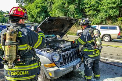 7-28-2020 Car Fire, Bear Mountain Bridge Road, Photos By Bob Rimm
