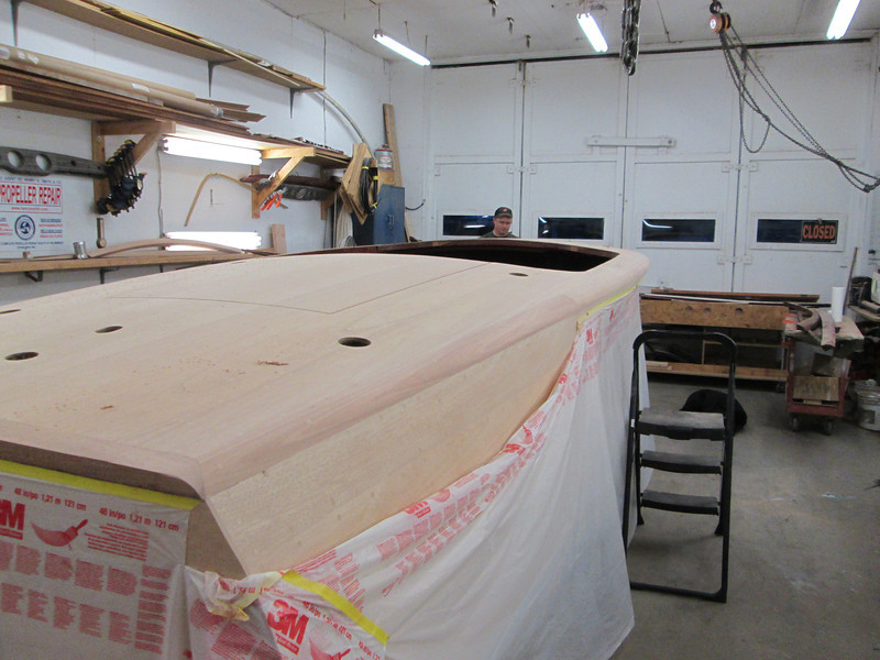 Rear starboard view of cover board shaped.