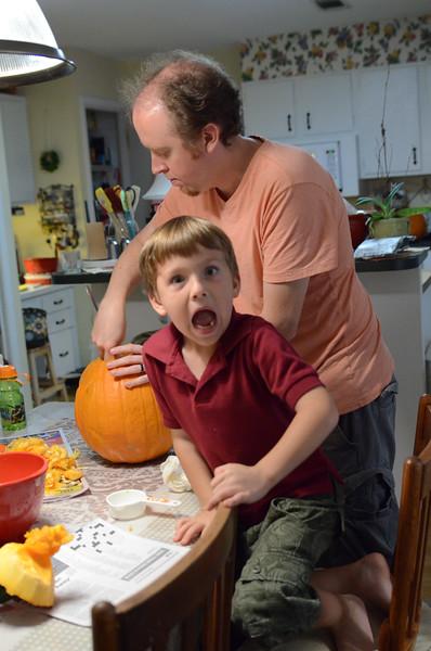 Reacting to Gutting  Pumpkins
