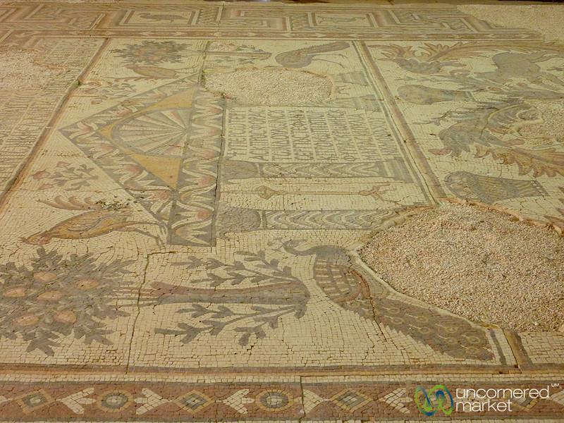 Ancient Mosaics at Mount Nebo, Jordan
