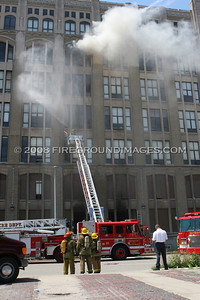 Old Cass Tech Fire (Detroit, MI) 7/30/07
