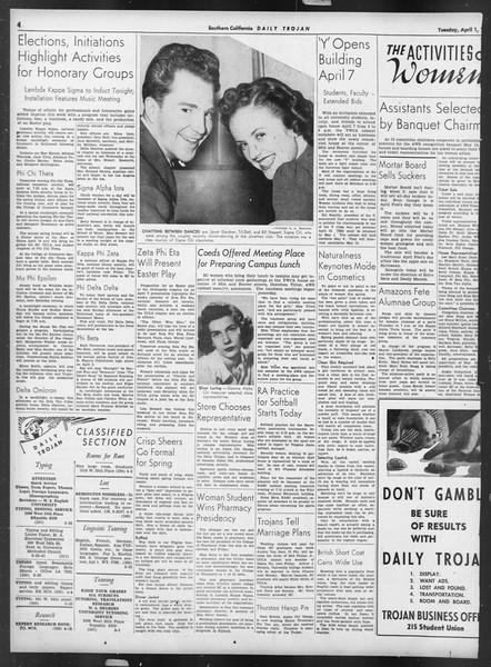 Daily Trojan, Vol. 32, No. 113, April 01, 1941