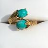 Vintage Bypass Gemstone Ring 14