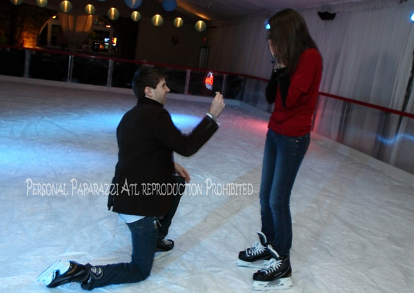 Park Tavern 2010 - First Marriage Proposal on Ice Rink - Nic and Molly