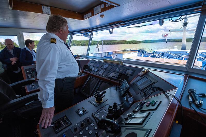 Captain gave tours.