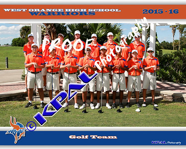 Boys Golf Team 2015