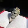 0.94ctw Vintage Old European Cut Diamond Dome Ring, Center OEC (GIA .59ct G SI2) 30