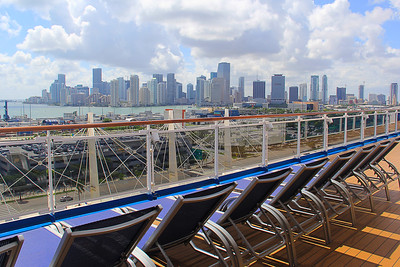 Reflections Of The Carnival Horizon And Views Of Miami