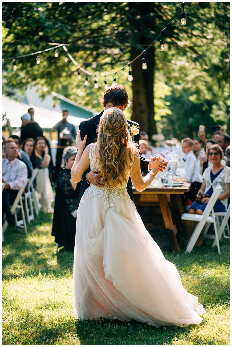 Outdoor First Dance Hope BC