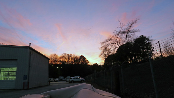 February 6:  A beautiful evening sky .  .  .