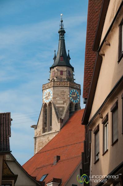 Tübingen Clocktower on a Winter Day - Baden-Württemberg, Germany
