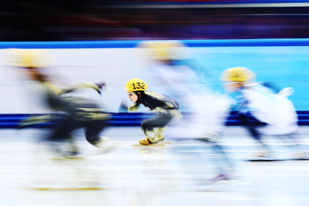 . Biba Sakurai of Japan competes in the Short Track Ladies\' 3000m Relay Final Bat Iceberg Skating Palace on day 11 of the 2014 Sochi Winter Olympics on February 18, 2014 in Sochi, Russia.  (Photo by Paul Gilham/Getty Images)