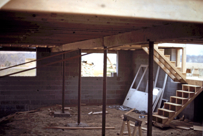 1974-10 - Floor supports - looking toward front of lower level