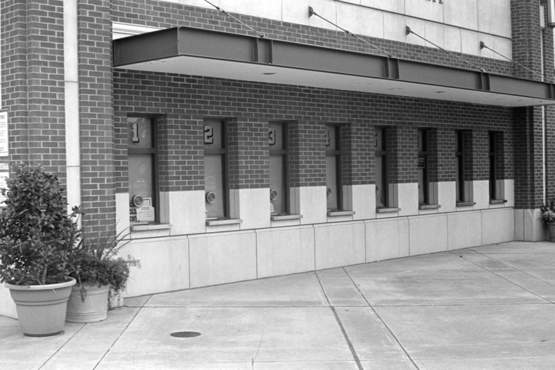 Ticket booths at University of Oklahoma stadium  Taken with Zorki 4K