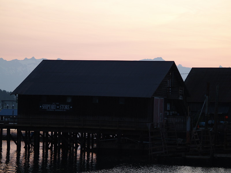 Early morning leaving Petersburg for Wrangell - the sun was just coming up around 4:30am (2009).