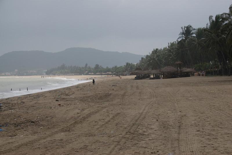 Wide shot of the beach at Nha Trang, Vietnam