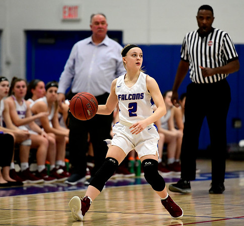 2/28/2019 Mike Orazzi | Staff St. Paul Girls Basketball's Kailyn Bielecki (2)during the Class S Second Round State Girls Basketball Tournament in Bristol Thursday night.