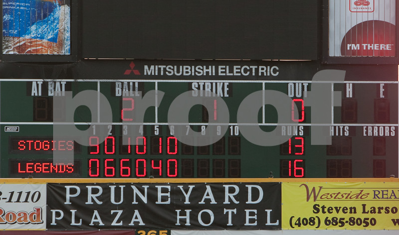 The Legends started out 11 behind after the first inning, but they caught up by the end of the game.