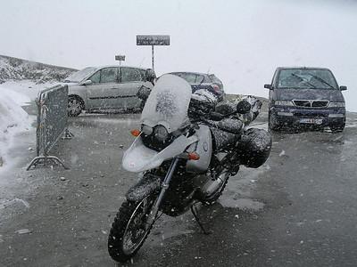 Het is niet altijd mooi weer in de bergen...