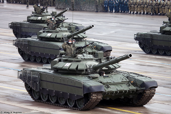 April 7th rehearsal of 2021 Victory Day Parade in Alabino