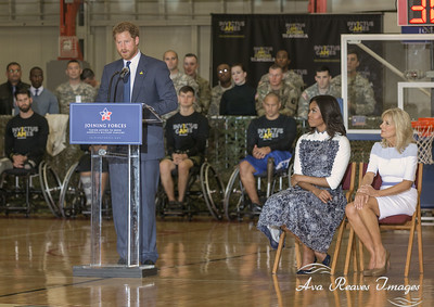 Prince Harry, Michelle Obama and Jill Biden Visit Fort Belvoir