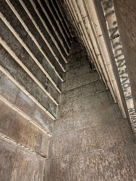 The ceiling of the inner chamber of Red Pyramid…notice the charcoal graffiti, left by British explorers in the early 19th century.
