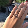 1.96ctw Fancy Golden Brown Hexagon Diamond and Baguette Trilogy Ring 10
