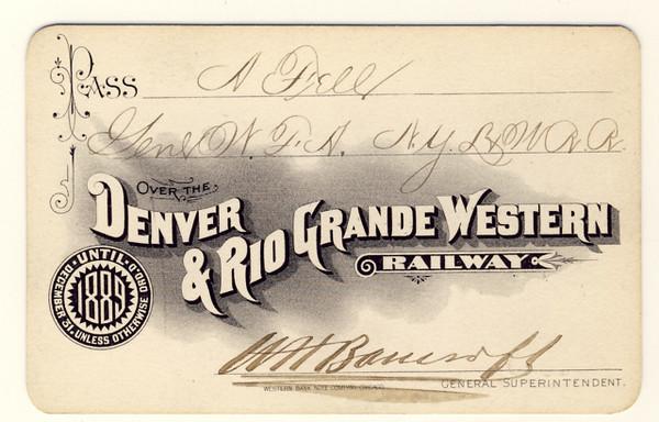 D&RGW Railway 1889