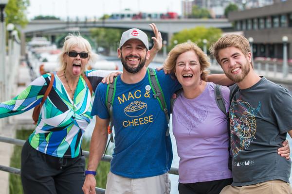 Ottawa with the Drummonds & Josh, 8/6/14