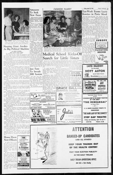 Daily Trojan, Vol. 55, No. 95, April 10, 1964