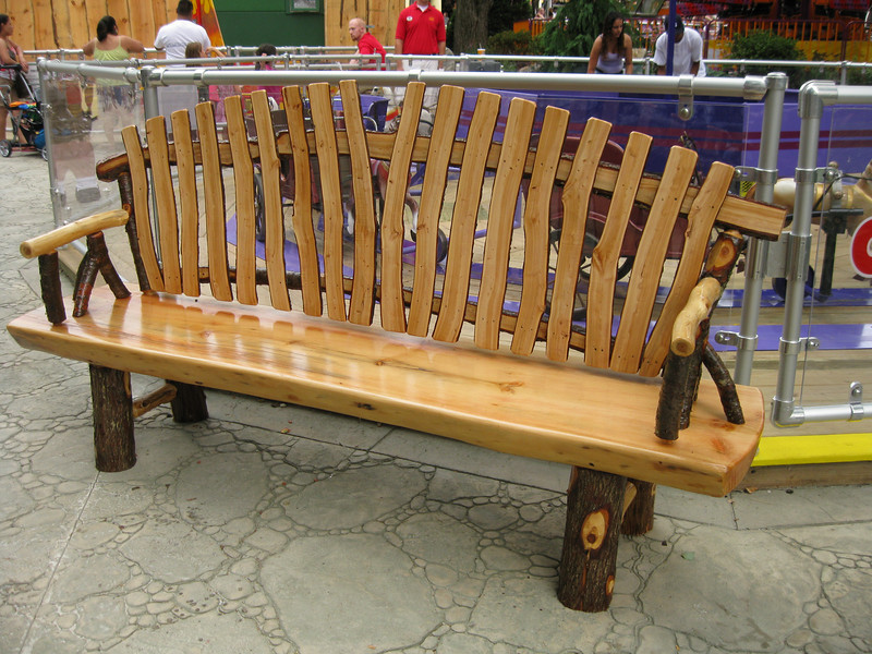 A new kiddie land bench.
