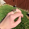 .38ctw Antique Diamond and Ruby Buckle Ring 13