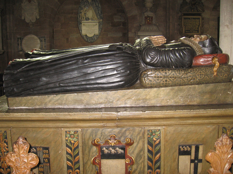 Tomb of Margaret Cooling Wilde (died June 1606) and her husband Robert (died January 1607-1608), Worcester Cathedral