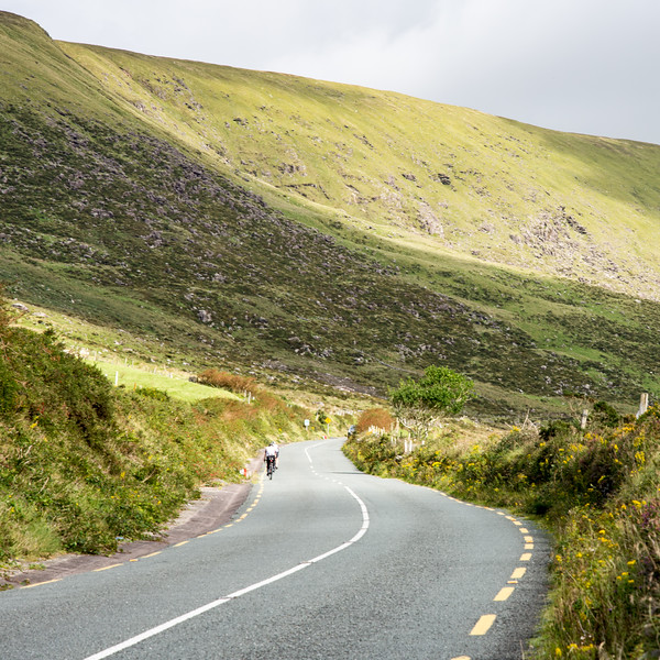 Cyclist on Conor Pass