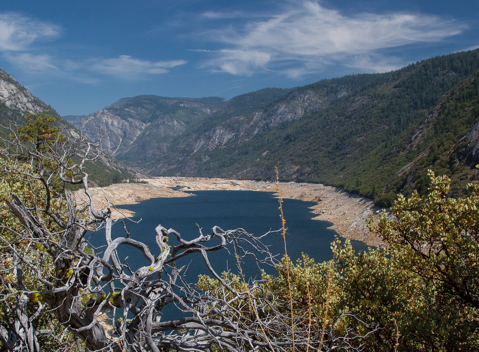 Salt Springs Reservoir during the 2015 drought