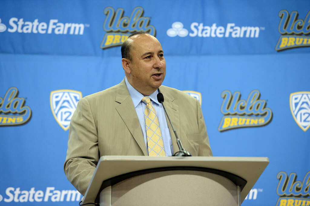 . <b>23. Dan Guerrero, 65, UCLA Athletic Director </b> <br>With a $75 million football practice facility and $35 million basketball counterpart set to open at UCLA in 2017, part of more than $400 million worth of upgrades to UCLA athletic facilities under Guerrero ...  (Hans Gutknecht, Los Angeles Daily News/SCNG)