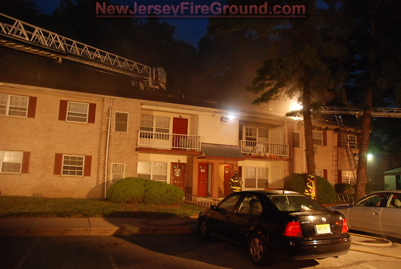 8-23-2012 (Camden County) LINDENWOLD - 550 Bilper Ave - 2nd Alarm Apartment Fire - All Hands Operating