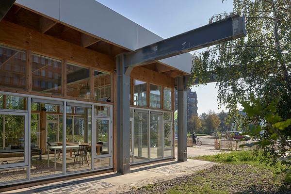 Popma Ter Steege architecten. Circulair paviljoen Leiden