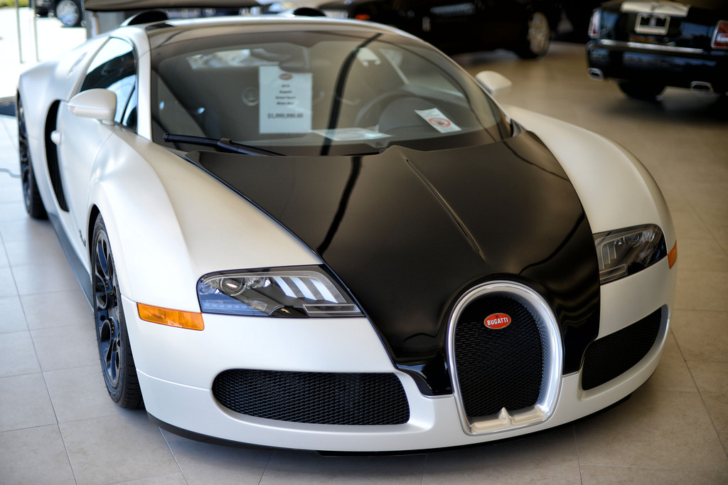 . A 2010 Bugatti Grand Sport at O\'Gara Coach Westlake in Thousand Oaks  Wednesday, April 3, 2013. (Hans Gutknecht/Los Angeles Daily News)