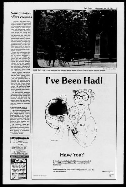 Daily Trojan, Vol. 90, No. 61, May 13, 1981