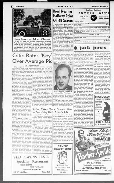 Summer News, Vol. 3, No. 18, August 02, 1948