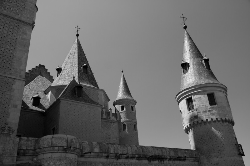 Alcazar spires, Segovia