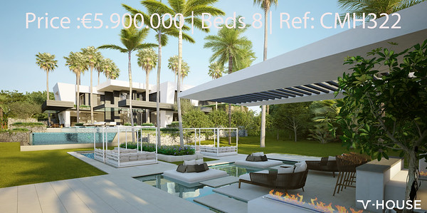V-House Cascada de Camojan Marbella Golden Mile Price :€5.900.000 | Beds 8